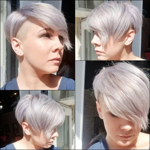 38 Incredible Silver Hair Color Ideas In 2018 In Short Silver Blonde Bob Hairstyles (View 10 of 25)