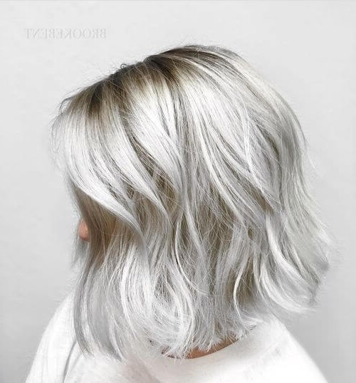 38 Incredible Silver Hair Color Ideas In 2018 With Glamorous Silver Blonde Waves Hairstyles (View 10 of 25)