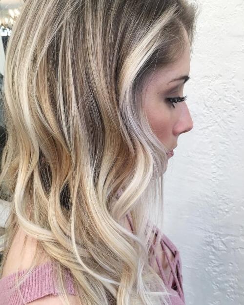 38 Top Blonde Highlights Of 2018 – Platinum, Ash, Dirty, Honey & Dark Inside Platinum Highlights Blonde Hairstyles (View 23 of 25)