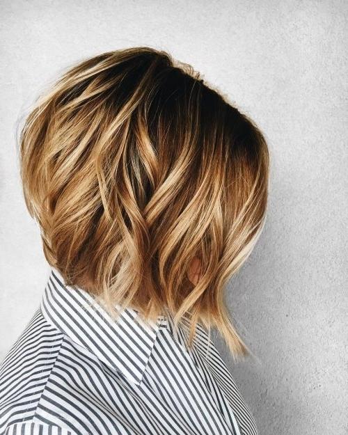 38 Top Blonde Highlights Of 2018 – Platinum, Ash, Dirty, Honey & Dark Inside Rooty Long Bob Blonde Hairstyles (View 17 of 25)