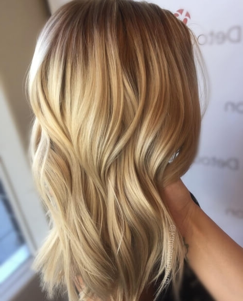 38 Top Blonde Highlights Of 2018 – Platinum, Ash, Dirty, Honey & Dark Intended For Buttery Highlights Blonde Hairstyles (View 12 of 25)
