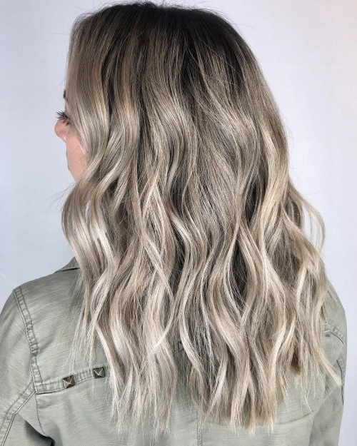 38 Top Blonde Highlights Of 2018 – Platinum, Ash, Dirty, Honey & Dark Within Dark Blonde Hairstyles With Icy Streaks (View 5 of 25)