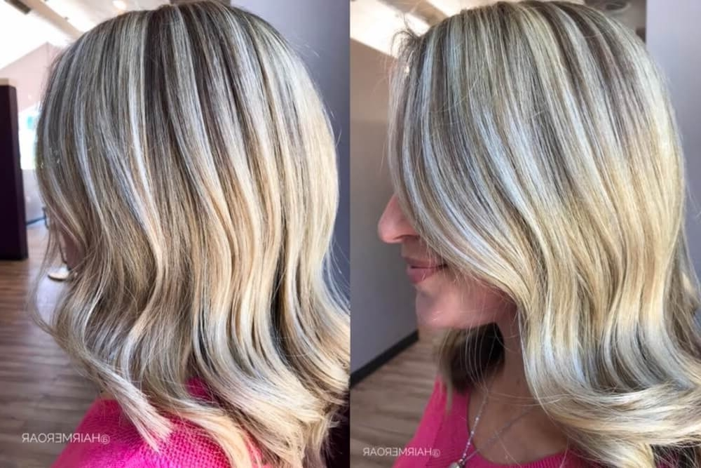 38 Top Blonde Highlights Of 2018 – Platinum, Ash, Dirty, Honey & Dark Within Multi Tonal Mid Length Blonde Hairstyles (View 20 of 25)
