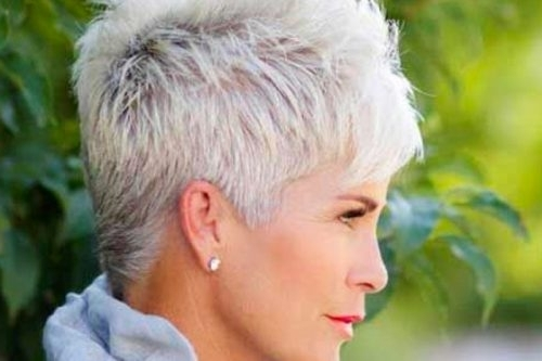 39 Classiest Short Hairstyles For Women Over 50 Of 2018 Throughout Most Recent Choppy Gray Pixie Hairstyles (View 22 of 25)