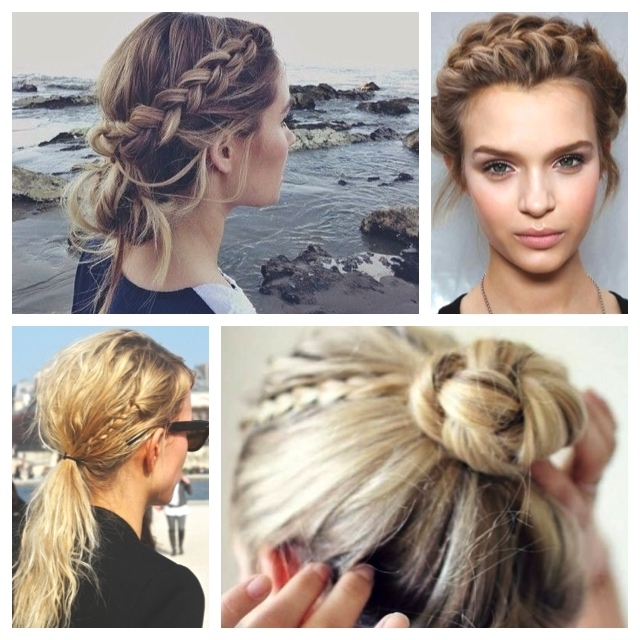 4 Braided Hair Styles To Try | Axelle Blanpain Inside Long Messy Pony With Braid (View 13 of 25)