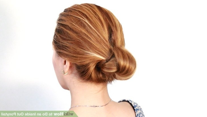 4 Easy Ways To Do An Inside Out Ponytail – Wikihow For Low Twisted Flip In Ponytail Hairstyles (View 21 of 25)
