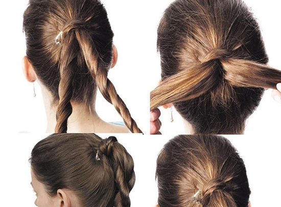 4 Simple Steps For Long Pony Hairstyle | Beauty Zone Throughout Twisted Pony Hairstyles (View 15 of 25)