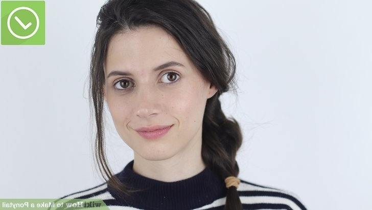 4 Ways To Make A Ponytail – Wikihow Intended For Low Hanging Ponytail Hairstyles (View 21 of 25)