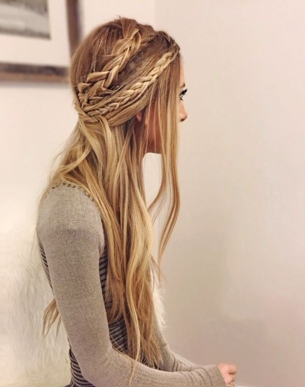 40 Adorable Hippie Hairstyles To Make You Look Cool | Hairstyles Intended For A Layered Array Of Braids Hairstyles (View 9 of 25)