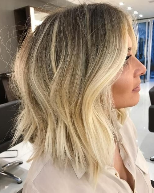 Featured Photo of Tousled Beach Babe Lob Blonde Hairstyles