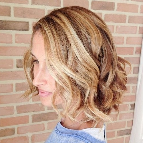 40 Banging Blonde Bob And Blonde Lob Hairstyles | Hair Ideas With Regard To Caramel Blonde Lob With Bangs (View 11 of 25)