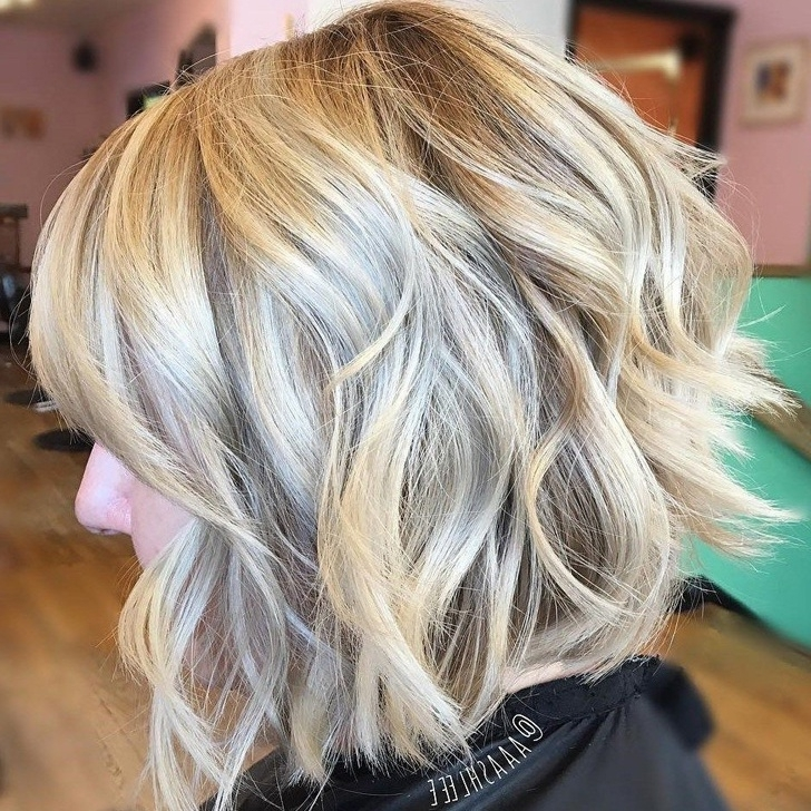 40 Beautiful And Easy Medium Bob Hairstyles For Women At Any Age Pertaining To Curly Angled Blonde Bob Hairstyles (View 17 of 25)