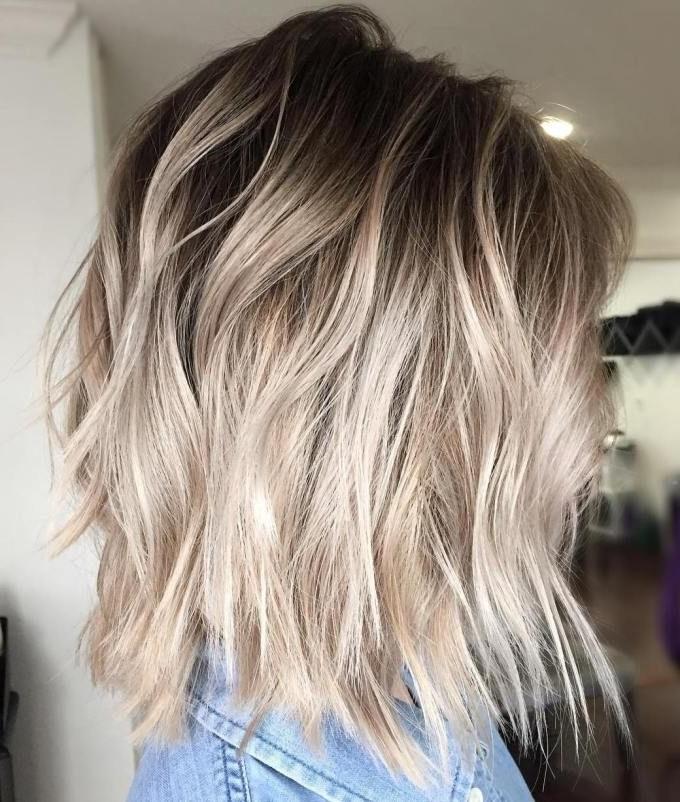 40 Beautiful Blonde Balayage Looks | Favorite Blonde Hair Regarding Rooty Long Bob Blonde Hairstyles (View 2 of 25)