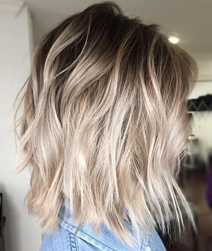 40 Beautiful Blonde Balayage Looks In 2018   Projects To Try Pertaining To Platinum Blonde Bob Hairstyles With Exposed Roots (View 4 of 25)