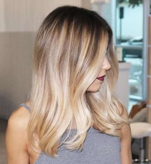 40 Beautiful Blonde Balayage Looks | Pretty Hair | Pinterest | Dark With Dark Roots Blonde Hairstyles With Honey Highlights (View 10 of 25)