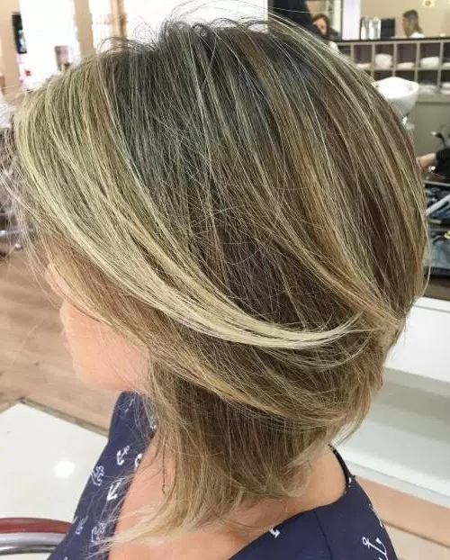 40 Beautiful Blonde Bob And Lob Styles | Page 22 For Bronde Bob With Highlighted Bangs (View 5 of 25)