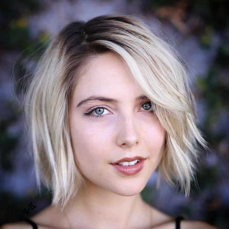 40 Best Bob Haircuts And Hairstyles In 2018 Pertaining To Shaggy Fade Blonde Hairstyles (View 10 of 25)