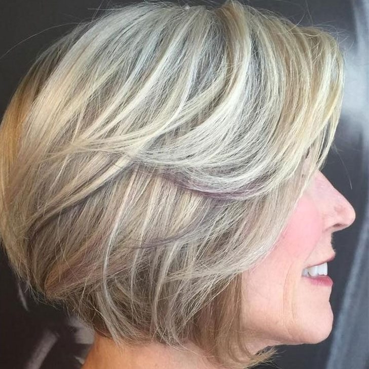 40 Best Hairstyles For Women Over 50 Pertaining To Feathered Ash Blonde Hairstyles (View 6 of 25)