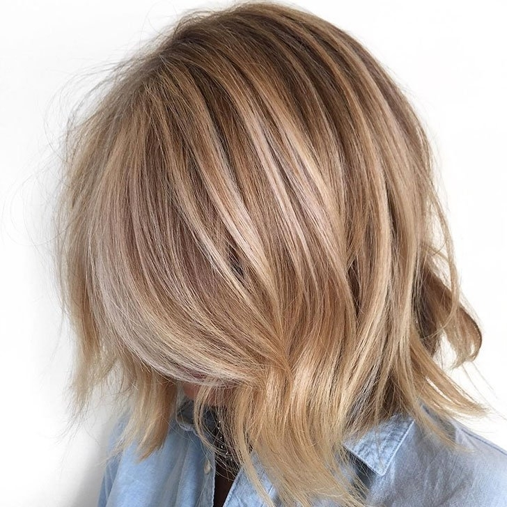 40 Best Medium Hairstyles And Haircuts Of 2018 Intended For Textured Medium Length Look Blonde Hairstyles (View 4 of 25)
