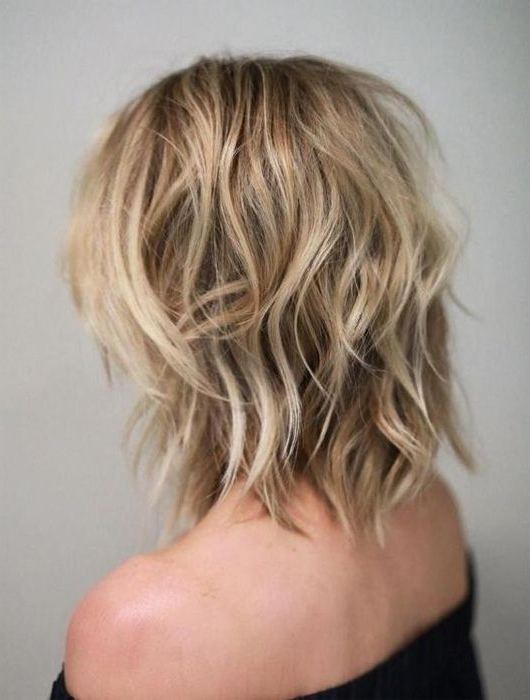 40 Best Variations Of A Medium Shag Haircut 2017 | Haircuts With Regard To Platinum Tresses Blonde Hairstyles With Shaggy Cut (View 8 of 25)