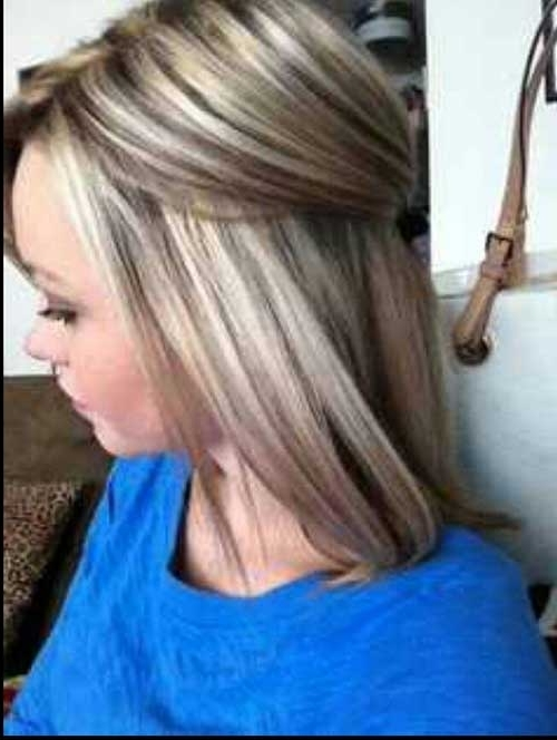 40 Blonde And Dark Brown Hair Color Ideas | Hairstyles & Haircuts Intended For Long Bob Blonde Hairstyles With Lowlights (View 11 of 25)