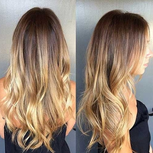 40 Blonde And Dark Brown Hair Color Ideas | Hairstyles & Haircuts With Regard To Blonde Color Melt Hairstyles (View 2 of 25)