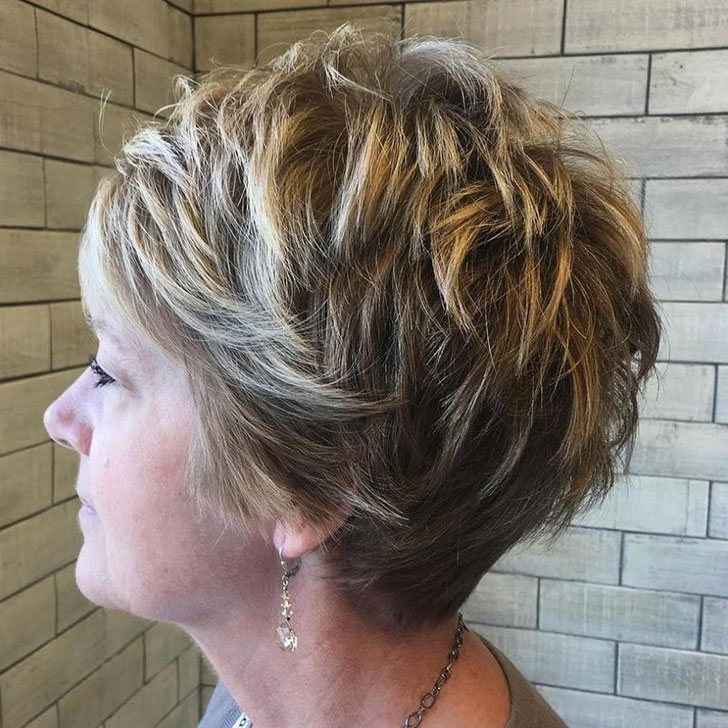 40 Chic And Classy Short Hairstyles For Women Over 50 Intended For 2018 Ashy Blonde Pixie Hairstyles With A Messy Touch (View 23 of 25)