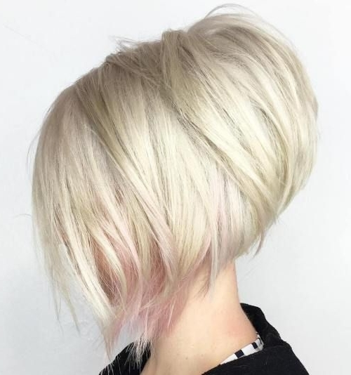 Featured Photo of Stacked White Blonde Bob Hairstyles