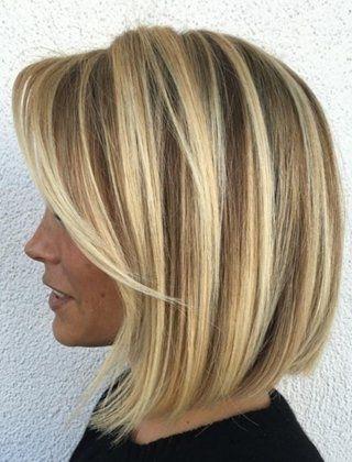 40 Chic Angled Bob Haircuts   Hair   Pinterest   Fine Hair, Haircuts Throughout Inverted Blonde Bob For Thin Hair (View 12 of 25)