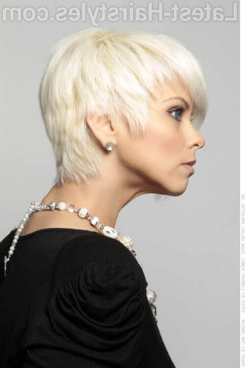 40 Cute Short Haircuts For Short Hair (Updated For 2018) Intended For Platinum Asymmetrical Blonde Hairstyles (View 17 of 25)