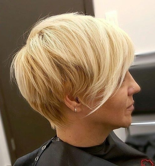 40 ?harming Short Fringe Hairstyles For Any Taste And Occasion With Regard To Most Popular Blonde Pixie Hairstyles With Short Angled Layers (View 4 of 25)
