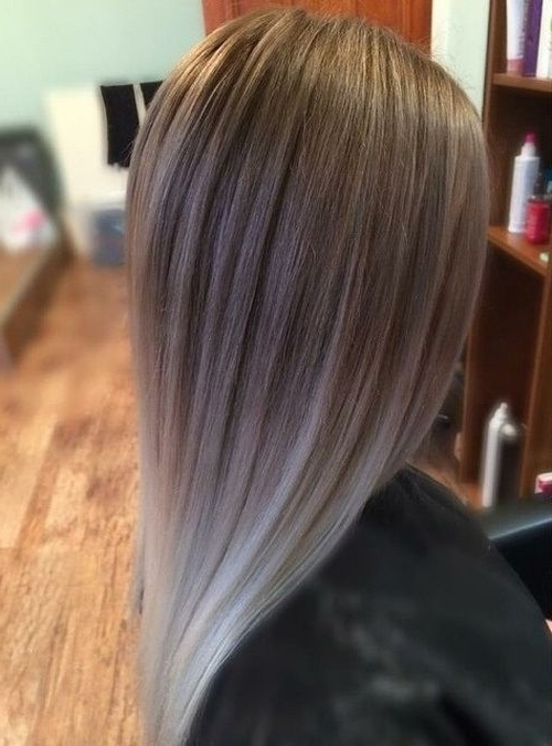 40 Glamorous Ash Blonde And Silver Ombre Hairstyles | Style In Glamorous Silver Blonde Waves Hairstyles (View 9 of 25)