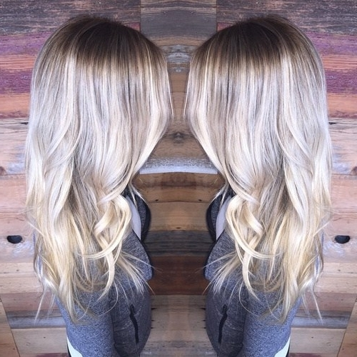 40 Gorgeous Ways To Rock Blonde & Silver Hair! – Hairstyles Weekly Pertaining To Dark Brown Hair Hairstyles With Silver Blonde Highlights (View 7 of 25)
