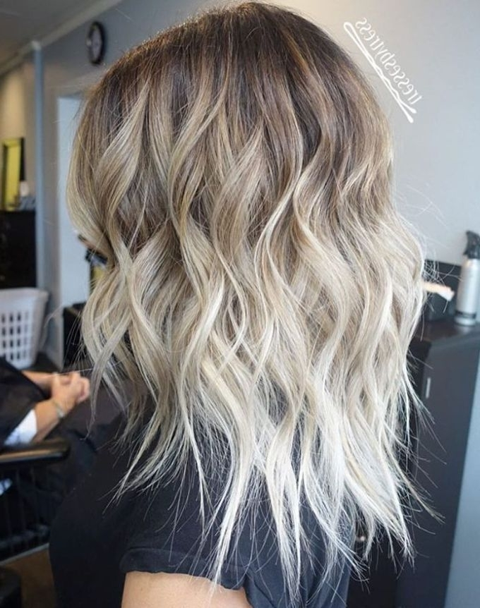 40 Hair ?olor Ideas With White And Platinum Blonde Hair | Cute Hair Throughout Grown Out Platinum Ombre Blonde Hairstyles (View 3 of 25)