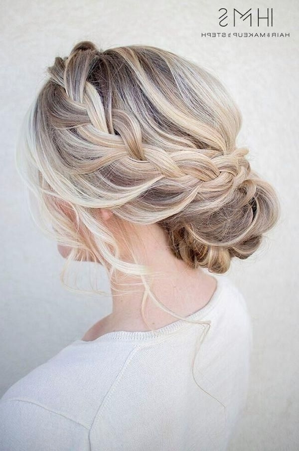 40 Hair ?olor Ideas With White And Platinum Blonde Hair | Wedding Intended For Platinum Braided Updo Blonde Hairstyles (View 2 of 25)