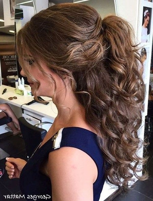 40 High Ponytail Ideas For Every Woman | Hair | Pinterest | Half Inside Half Up Curly Look Pony Hairstyles (View 5 of 25)