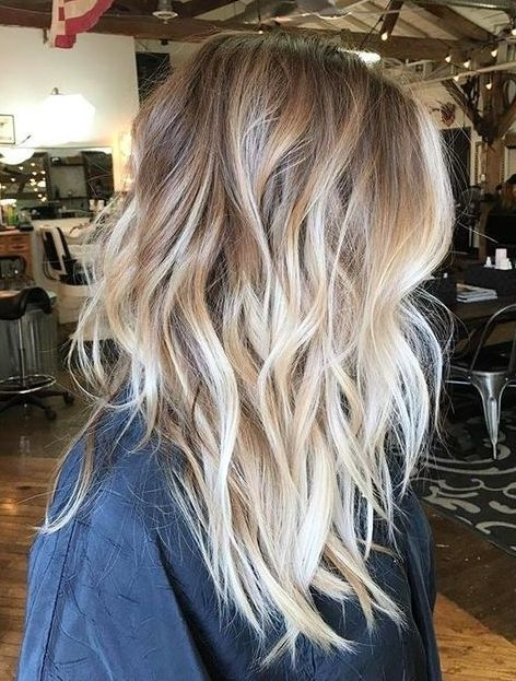 40 Hottest Ombre Hair Color Ideas For 2018 – (Short, Medium, Long Inside Balayage Blonde Hairstyles With Layered Ends (View 11 of 25)