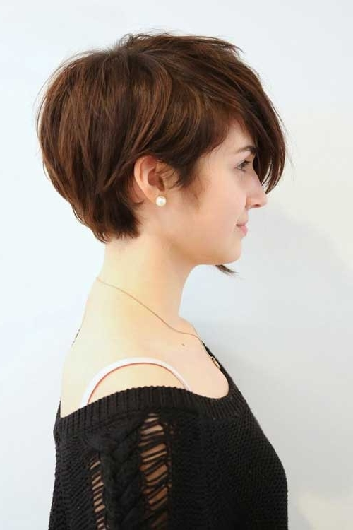 40 Hottest Short Hairstyles, Short Haircuts 2018 – Bobs, Pixie, Cool Within Most Up To Date Asymmetrical Long Pixie Hairstyles For Round Faces (View 5 of 25)