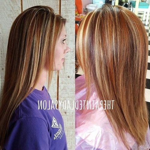 40 Ideas For Light Brown Hair With Highlights And Lowlights – Page With Regard To Light Copper Hairstyles With Blonde Babylights (View 12 of 25)