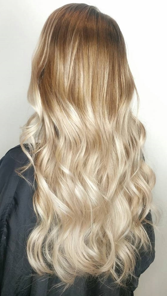 40 Ombre Hair Color And Style Ideas Inside Blonde Ombre Waves Hairstyles (View 7 of 25)