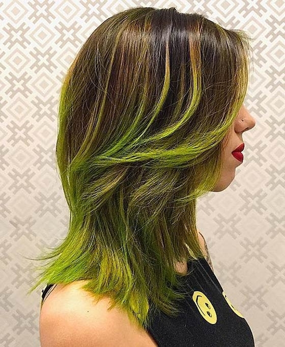 40 Ombre Hair Color And Style Ideas Throughout Blonde Hairstyles With Green Highlights (View 21 of 25)