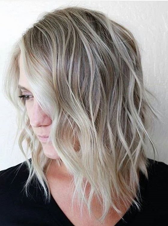 40 Ombre Hair Color And Style Ideas Within Icy Ombre Waves Blonde Hairstyles (View 9 of 25)