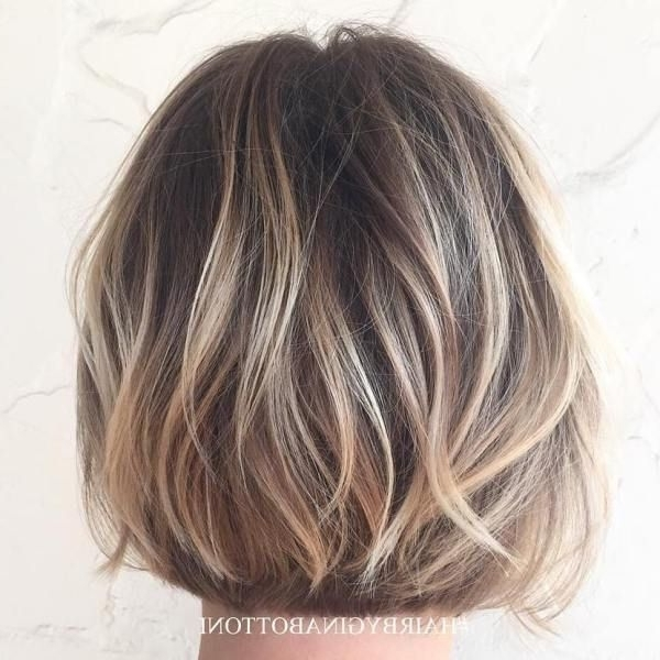 40 On Trend Balayage Short Hair Looks In 2018 | Hair | Pinterest Inside Bronde Bob With Highlighted Bangs (View 9 of 25)