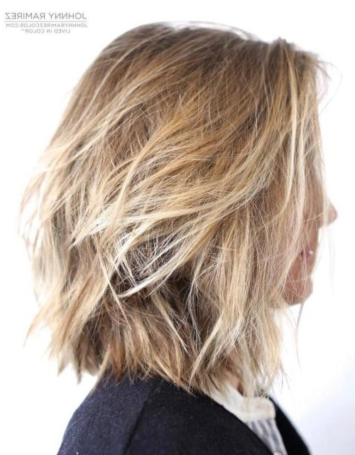 40 Shaggy Bob Hairstyles For Short & Medium Hair – Shaggy Haircuts Within Shaggy Highlighted Blonde Bob Hairstyles (View 3 of 25)
