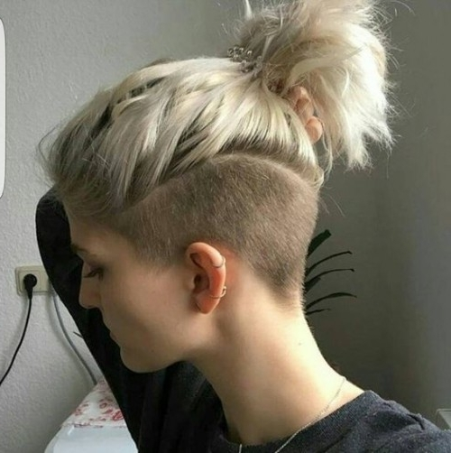 40 Shaved Hairstyles For Women | Herinterest/ In Punky Ponytail Hairstyles (View 7 of 25)