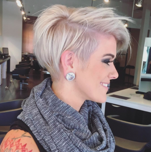 40 Short Hairstyles For Fine Hair 2017 | Herinterest/ Inside Most Popular Rose Gold Pixie Hairstyles (View 21 of 25)