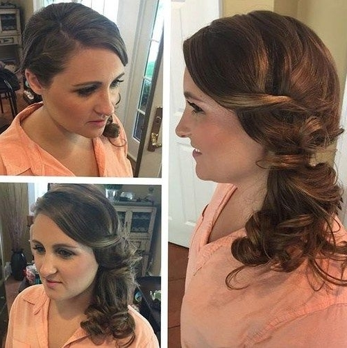 40 Side Ponytails That You Will Love | Curly Side Ponytails, Side Intended For Fancy Side Ponytail Hairstyles (View 6 of 25)
