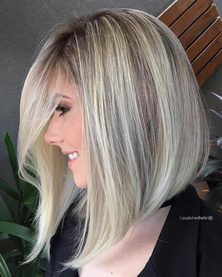 40 Styles With Medium Blonde Hair For Major Inspiration | Pinterest Regarding Trendy Angled Blonde Haircuts (View 7 of 25)