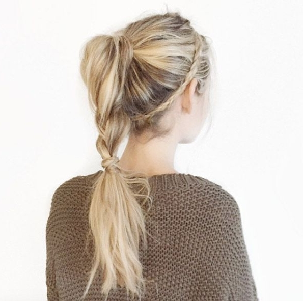 40 Stylish Braided Ponytail Hairstyles | Braid Crown, Ponytail And Intended For Perfectly Undone Half Braid Ponytail (View 3 of 25)