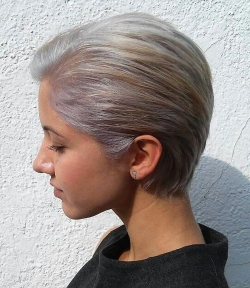 40 Stylish Hairstyles And Haircuts For Teenage Girls – Latest Trends Pertaining To Short Silver Crop Blonde Hairstyles (View 15 of 25)